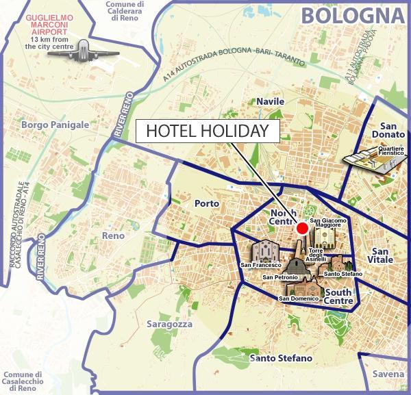 Dove siamo hotel holiday bologna for Hotel bologna borgo panigale